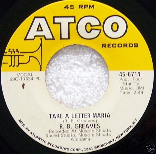 "Take A Letter Maria"" was one of those singles that seemed to come ..."