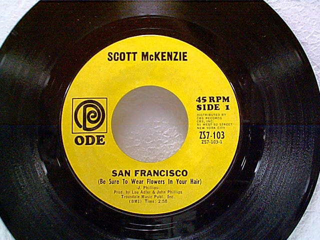San Francisco Wear Some Flowers In Your Hair 45 By Scott Mckenzie