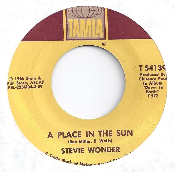 Place In The Sun 45 by Stevie Wonder